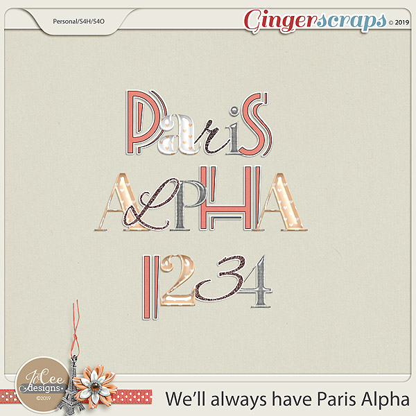 We'll Always Have Paris Alphas by JoCee Designs