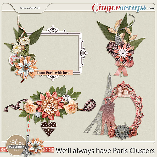 We'll Always Have Paris Clusters by JoCee Designs