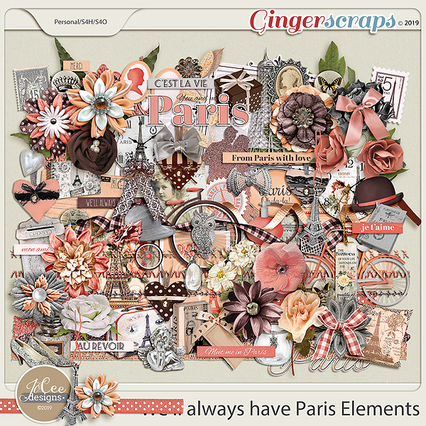 We'll Always Have Paris Elements by JoCee Designs