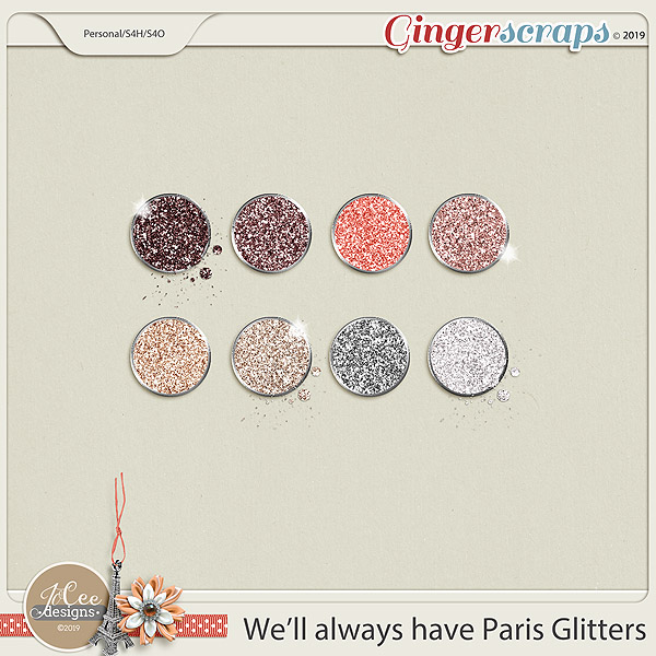 We'll Always Have Paris Glitters by JoCee Designs