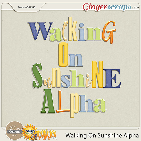Walking On Sunshine Alphas by JoCee Designs