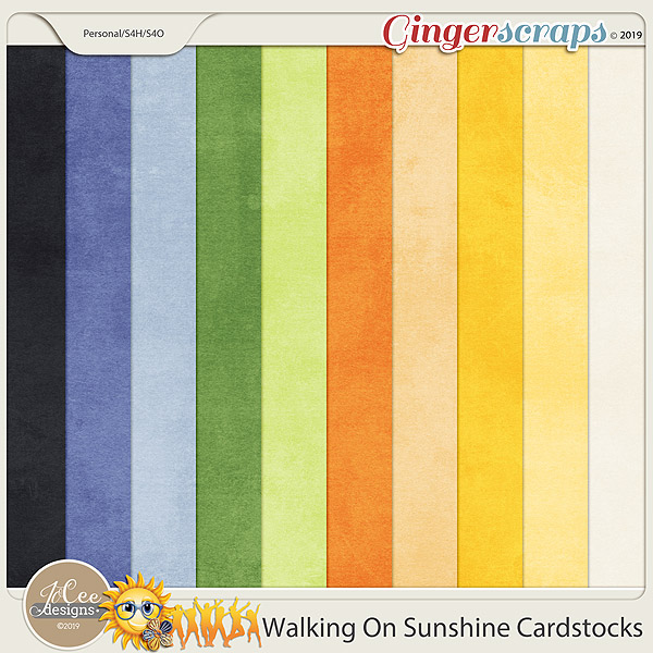Walking On Sunshine Cardstocks by JoCee Designs