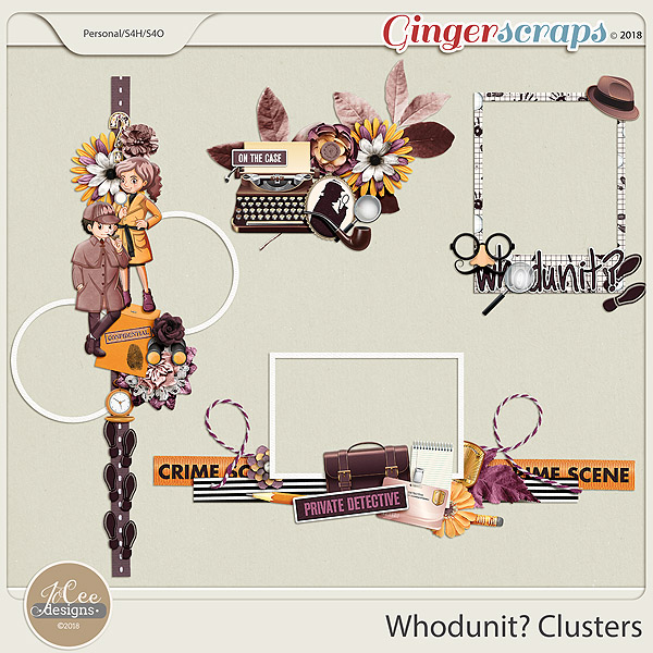 Whodunit Clusters by JoCee Designs