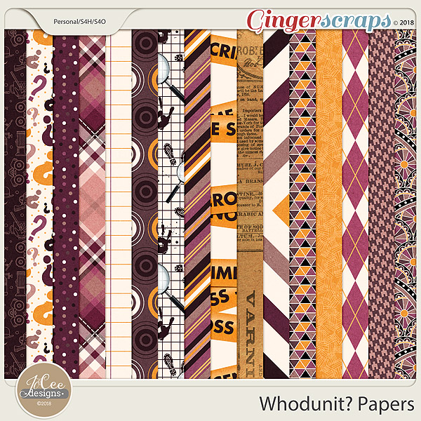 Whodunit Papers by JoCee Designs