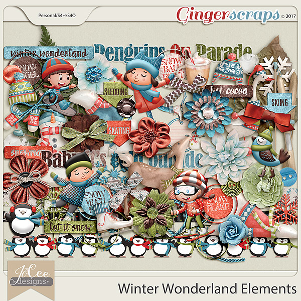 Winter Wonderland Elements by JoCee Designs