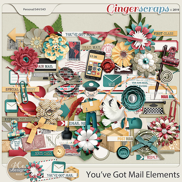 You've Got Mail Elements by JoCee Designs