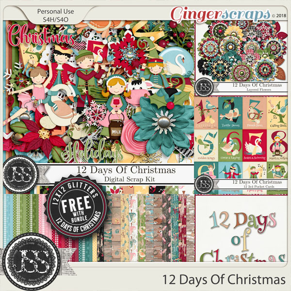 12 Days Of Christmas Digital Scrapbook Bundle