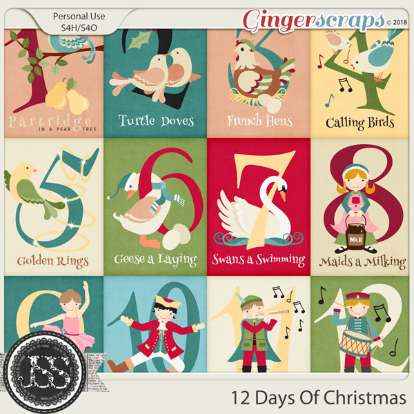 12 Days Of Christmas Pocket Scrap Cards