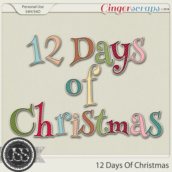 12 Days Of Christmas Alphabets