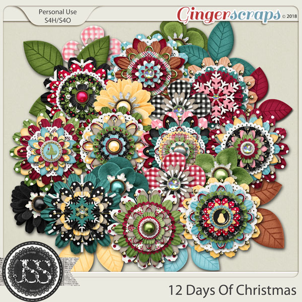 12 Days Of Christmas Layered Flowers