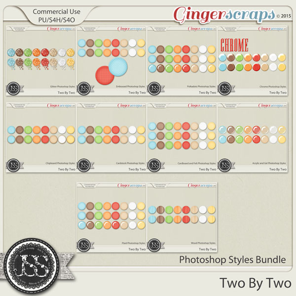Two By Two CU Photoshop Styles Bundle