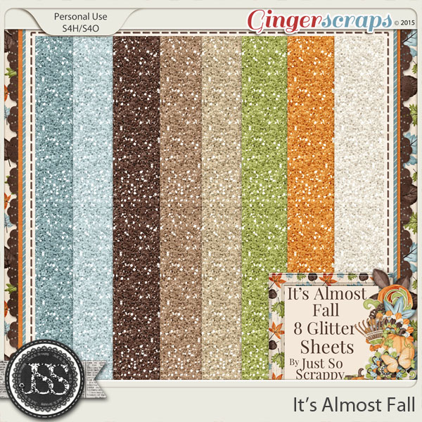 It's Almost Fall Glitter Sheets