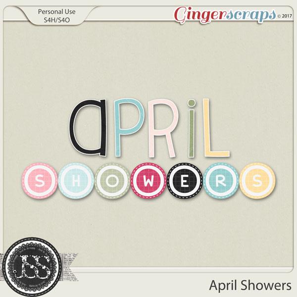 April Showers Alphabets