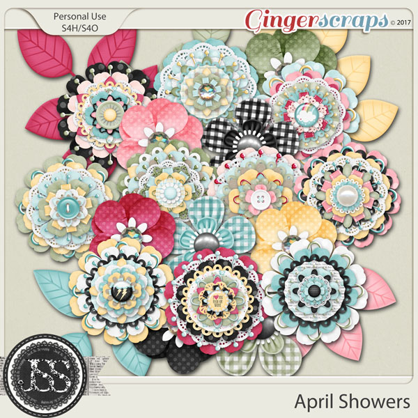 April Showers Layered Flowers