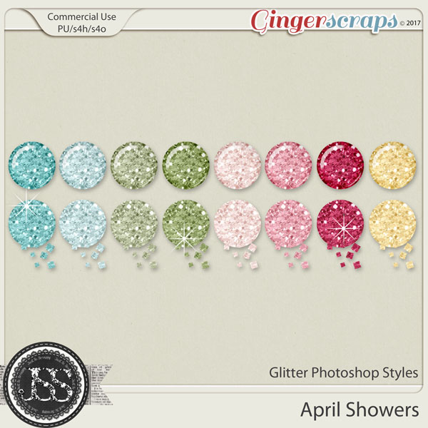 April Showers CU Glitter Photoshop Styles