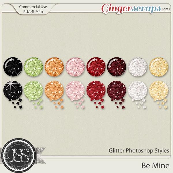 Be Mine Glitter CU Photoshop Styles