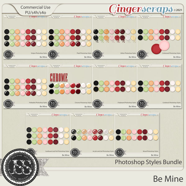 Be Mine CU Photoshop Styles Bundle