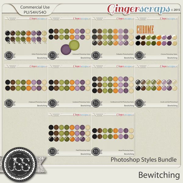 Bewitching CU Photoshop Styles Bundle