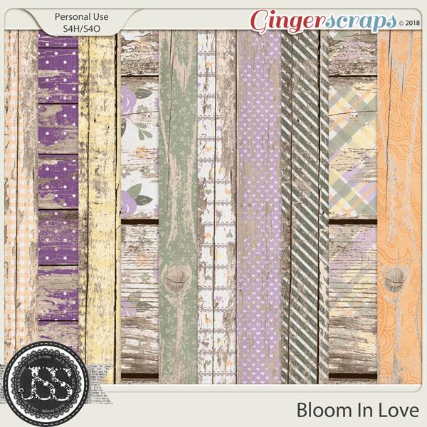 Bloom In Love Worn Wood Papers