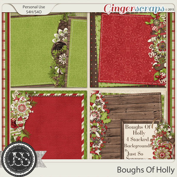 Boughs Of Holly Stacked Backgrounds