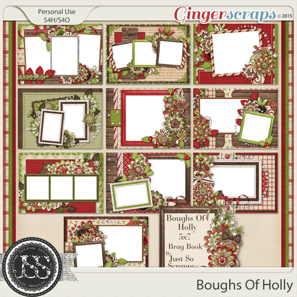 Boughs Of Holly 5x7 Brag Book