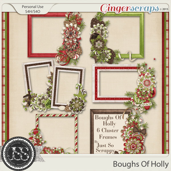 Boughs Of Holly Cluster Frames