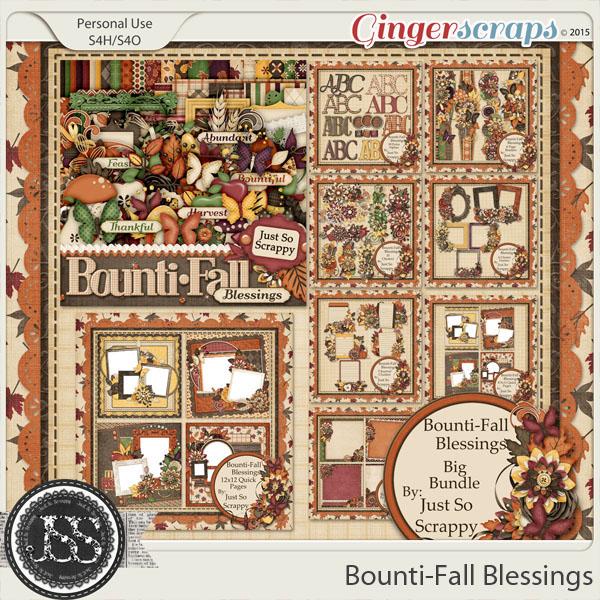 Bounti-Fall Blessings Digital Scrapbooking Bundle