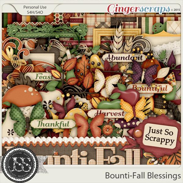 Bounti-Fall Blessings Digital Scrapbooking kit