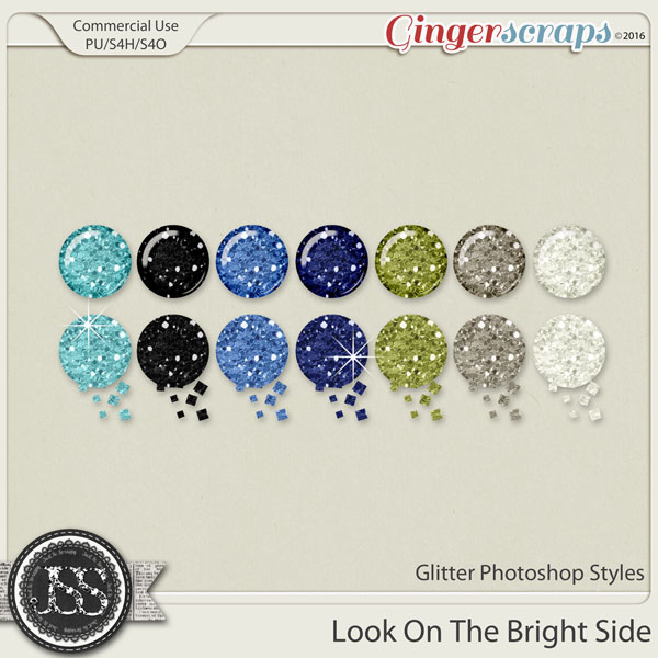 Look On The Bright Side CU Glitter Photoshop Styles