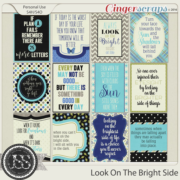Look On The Bright Side Journal and Pocket Scrap Cards