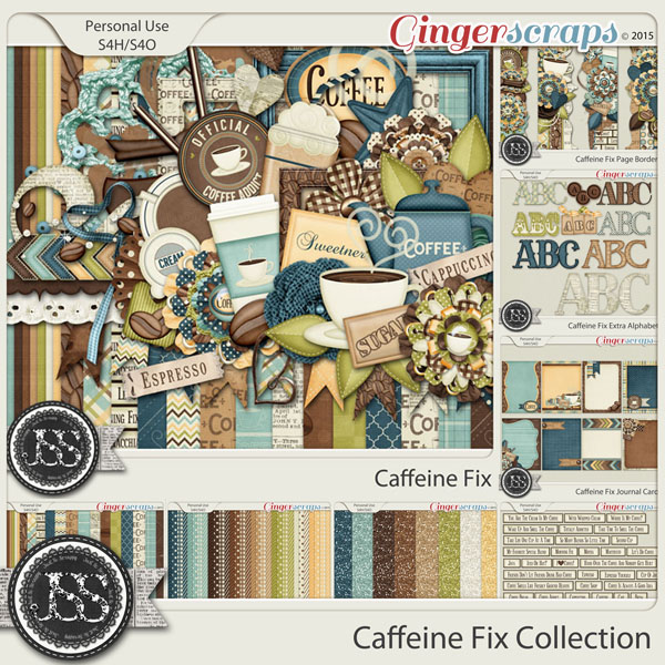 Caffeine Fix Digital Scrapbook Bundle