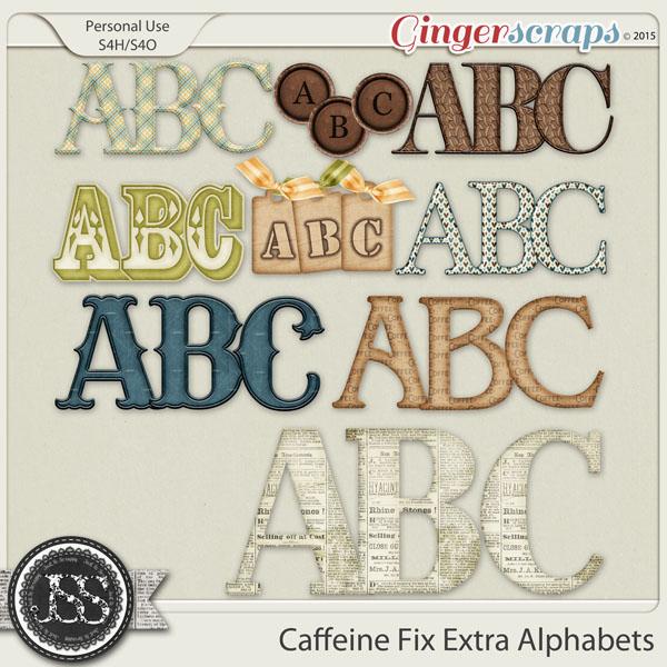 Caffeine Fix Alphabets