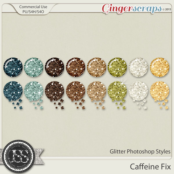 Caffeine Fix Glitter Photoshop Styles