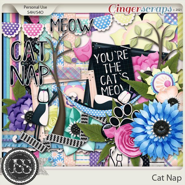Cat Nap Digital Scrapbook Kit