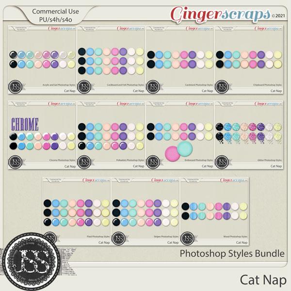 Cat Nap CU Photoshop Styles Bundle
