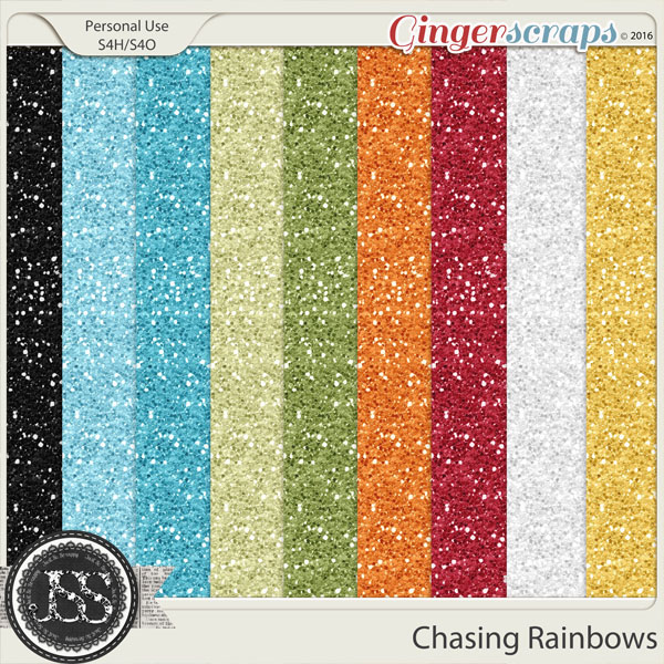 Chasing Rainbows Glitter Papers