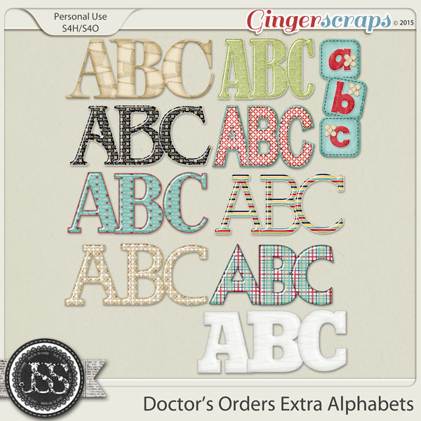 Doctors Orders Alphabets Pack