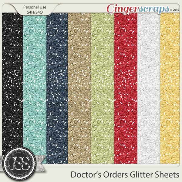 Doctors Orders Glitter Sheets