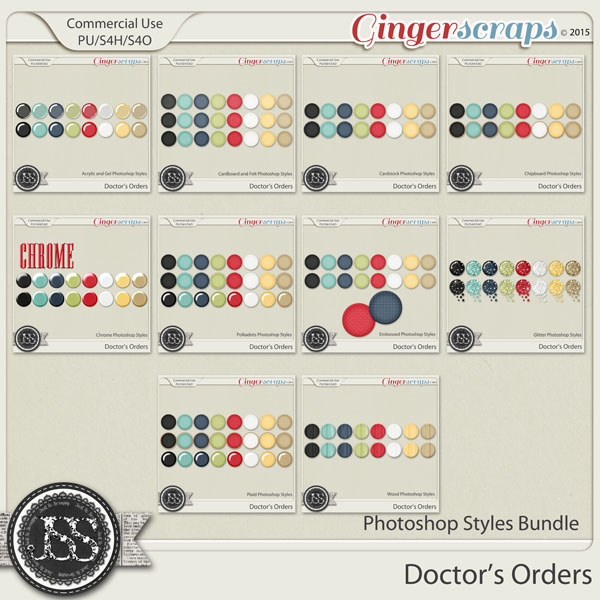Doctors Orders CU Photoshop Style Bundle