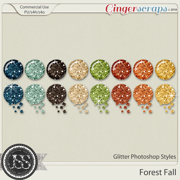 Forest Fall CU Glitter Photoshop Styles