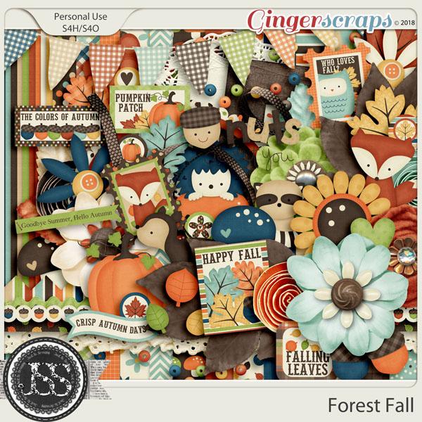 Forest Fall Digital Scrapbook Kit