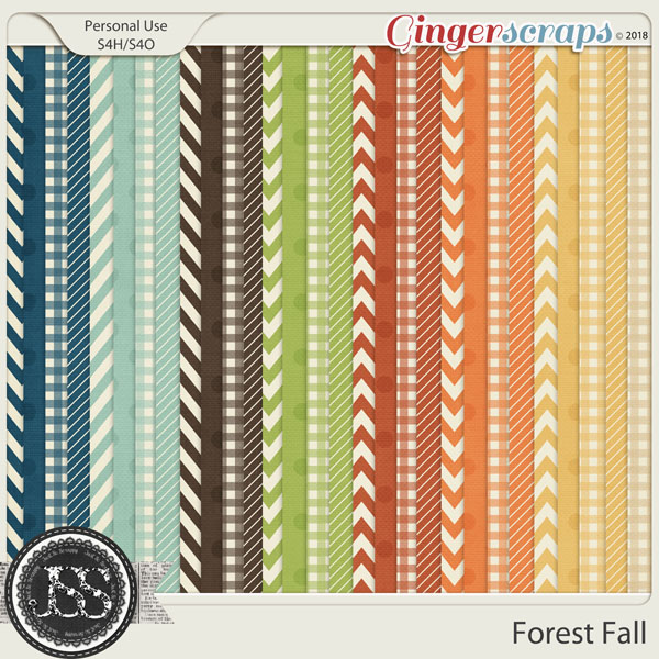 Forest Fall Pattern Papers