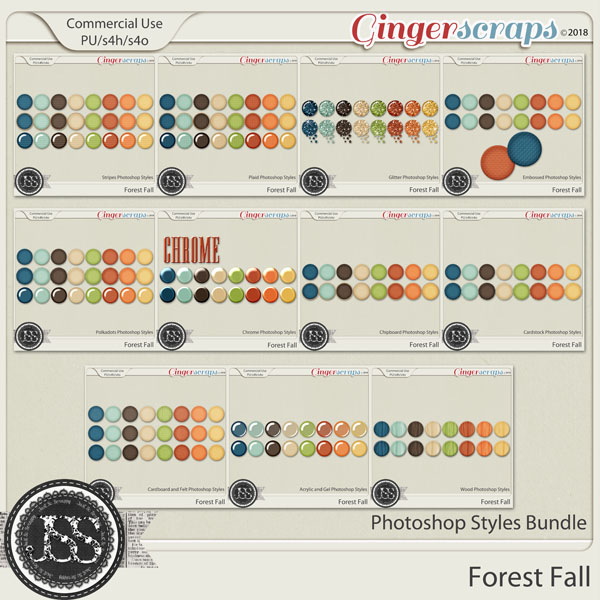 Forest Fall CU Photoshop Styles Bundle