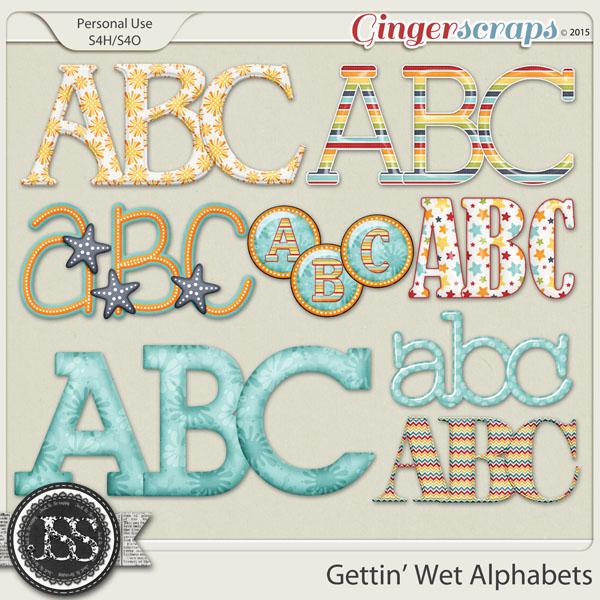 Gettin Wet Alphabets