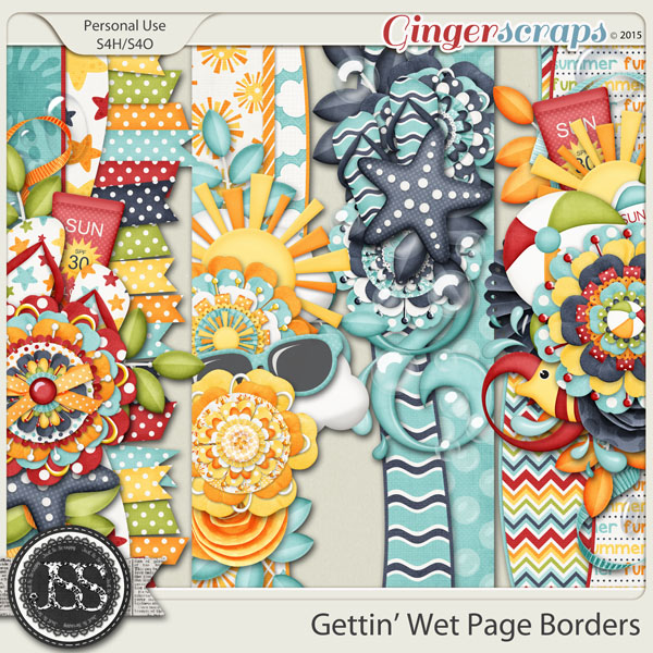 Gettin Wet Page Borders
