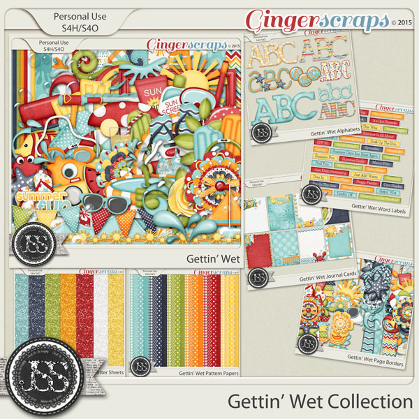 Gettin Wet Digital Scrapbooking Bundle