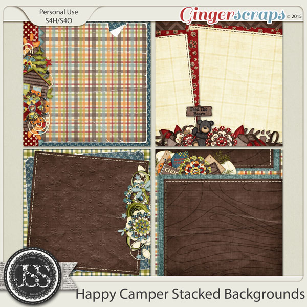 Happy Camper Stacked Backgrounds