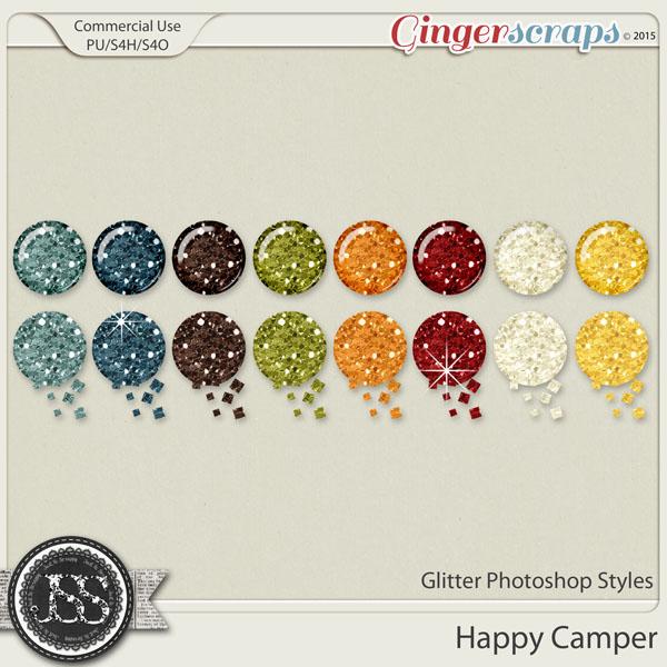 Happy Camper Glitter Photoshop Styles