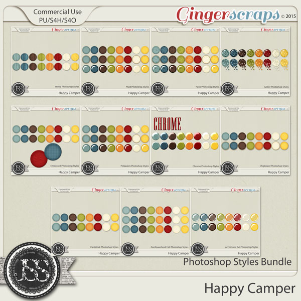 Happy Camper CU Photoshop Styles Bundle