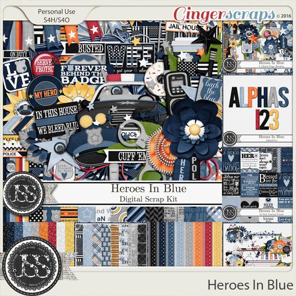 Heroes In Blue Digital Scrapbooking Bundle